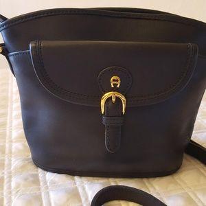 Black Small Etienne Aigner Shoulder Bag