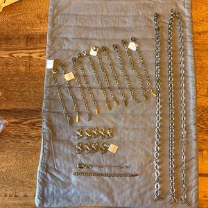 Lot of Lia Sophia extenders and chains