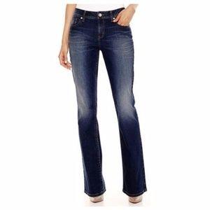 A.N.A Thick Stitch Boot Cut Jeans Flap Pocket [A2]