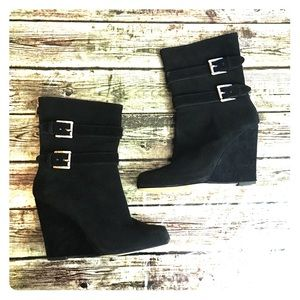 Michael Michael Kors Suede Wedge Boots
