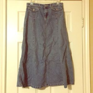 christopher & banks Jean Skirt