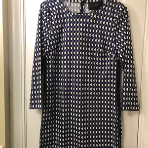 J Crew Jet Set Geo Shift Dress Size 4 NWOT