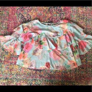 ASOS Sheer Floral Blouse