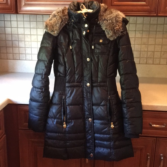 743709d3b Laundry Faux Fur Hooded Quilted Puffer Coat