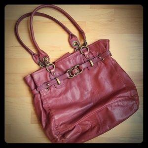 Barn red Wilson leather shoulder bag/tote