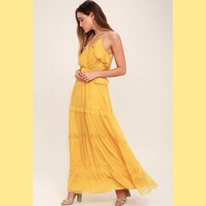 Mustard yellow maxi dress