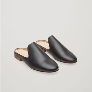 COS Black Leather Mules Loafers *NEW*