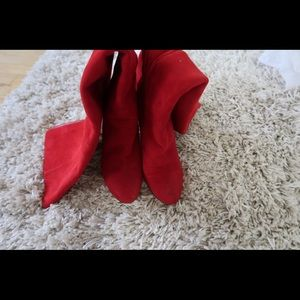 Red Suede Dior Boots. Size 7,5 (38)