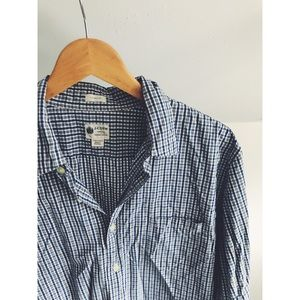 J. Crew Tailored Fit Washed Casual Button Up