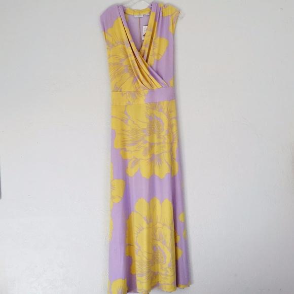 Yellow new york and company maxi dress