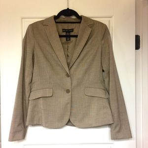New York & Company Khaki/Tan Colored Lined Blazer