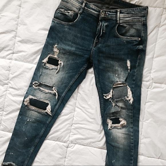 80d0db87 Men's Zara Ripped Distressed Jeans. M_5a0c8f32bf6df596f800cd88