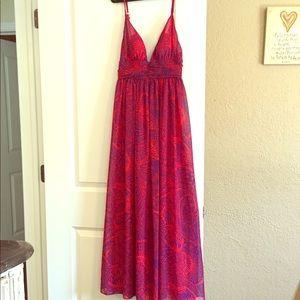 Moda International chiffon maxi dress.
