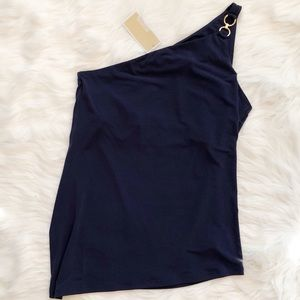 NWT Michael Kors One Shoulder Blouse