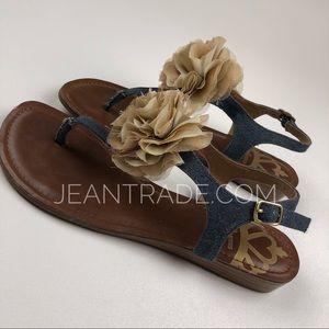 Fergalicious Tammie Thong Denim Sandal