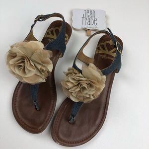 Fergalicious Shoes - Fergalicious Tammie Thong Denim Sandal