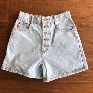 Vintage Bongo High Waisted Mom Jean Shorts
