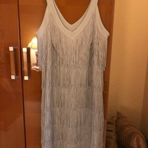 Silver Fringe Dress. NWT