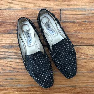 Jimmy Choo studded slipper flats
