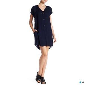 Rayon Challis Shirt Dress