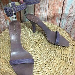 BURBERRY Purple Leather Heels Women Size EU38½