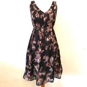 Motherhood Maternity black floral dress