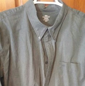 Dockers 3XLT Dark Green Long Sleeve Dress Shirt