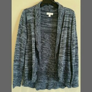 BLUE MEARLE OPEN FRONT CARDIGAN SWEATER