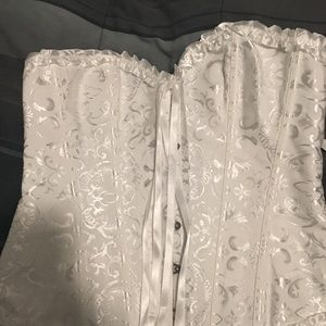 Other - White Lace Up Corsets