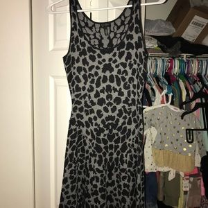 Jessica Simpson Animal print sweater dress