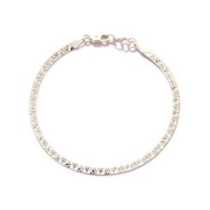 "Jewelry - 8"" Sterling Silver Herringbone Bracelet"