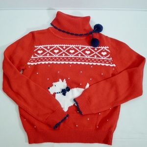 Hartstrings turtle neck holidays/ugly sweater14/16