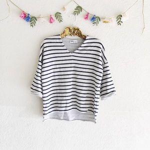 Zara Striped V-Neck Sweater