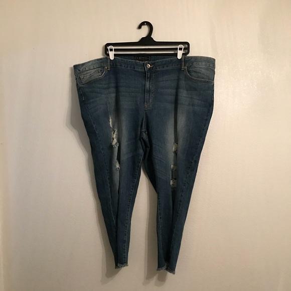 dae7f01bd6b50 Cato Denim - Cato Premium Curvy Plus Size 26W Distressed Jeans