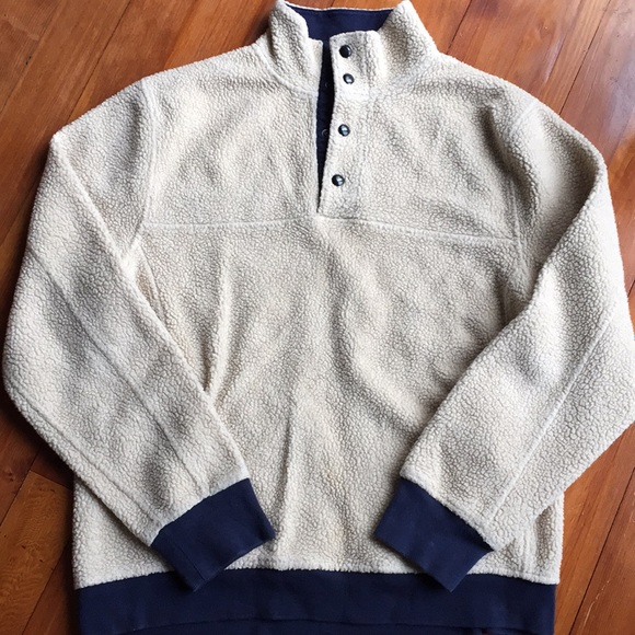 J. Crew - J. Crew Grizzly Fleece Quarter Button Up Pullover from ...