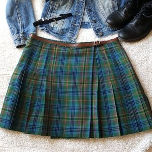 Vintage 90's Ralph Lauren plaid, pleated, skirt