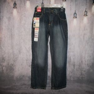 Straight Fit Wrangler Jeans Adjustable Waistband S