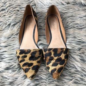 Madewell Lydia Calf Hair Leopard Flats 8 d'Orsay