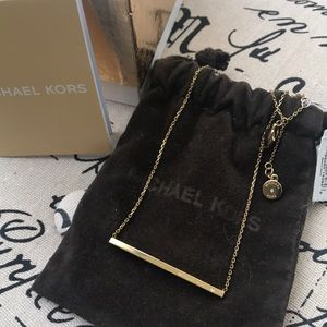 NWT Michael Kors Bar Necklace