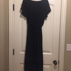 GAP polka dot empire waist tie back dress