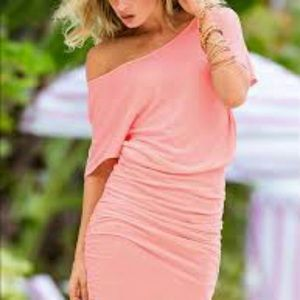 Victoria's Secret Off Shoulder Fit Skirt SzL Dress
