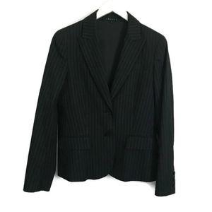 Theory Striped Blazer Cotton Wool Blend
