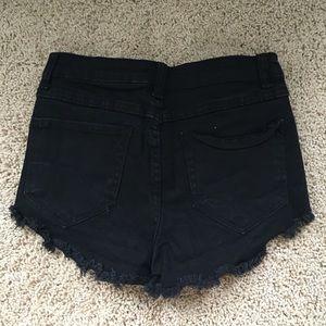 Brandy Melville High Waisted Black Shorts
