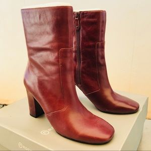Stunning ROCKPORT Oxblood leather red boots Sz 9.5