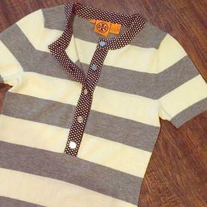 •Tory Burch• 100% Wool Striped Sweater