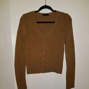 Zara camel cardigan knit