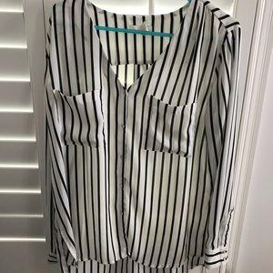 Striped Pocket Blouse