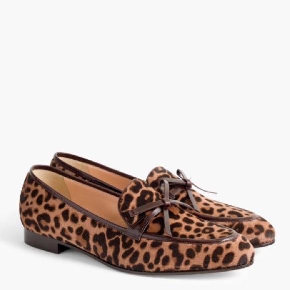 c2eb4bdbeec Academy Leopard Calf Hair Loafers