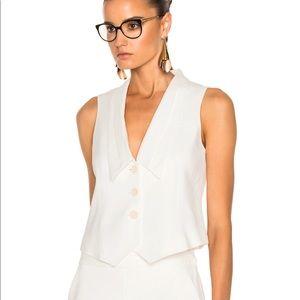 Frame White Tux Vest NWT
