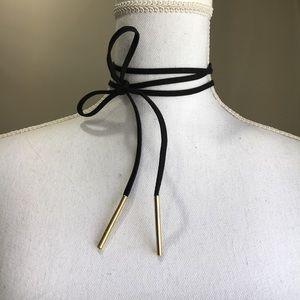 FREE vegan suede tie choker necklace